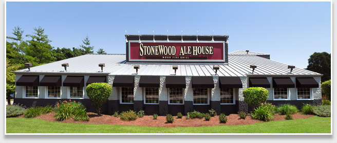 Photo of Stonewood Ale House Restaurant from Mall Drive in Schaumburg